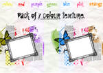 Pack of 7 colour texture