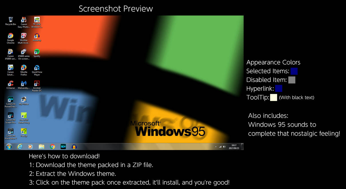 Windows 95 colors
