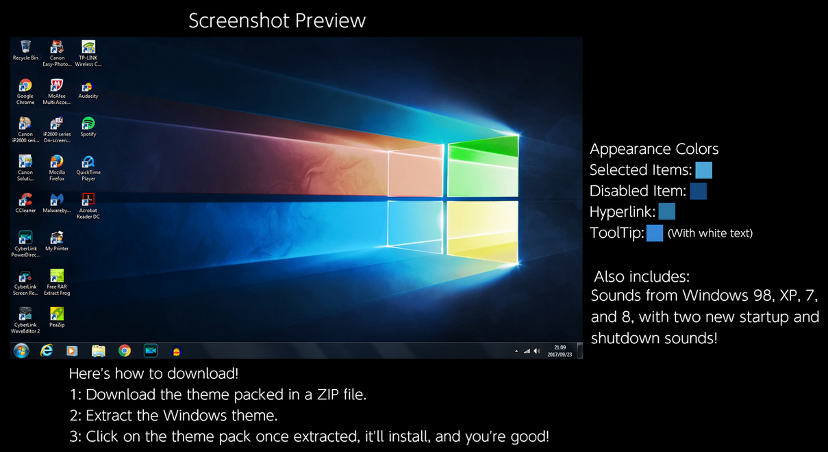 Windows 10 (Color) Windows Theme by TheWolfBunny on DeviantArt
