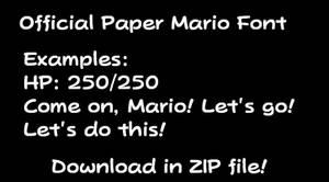 Official Paper Mario Font