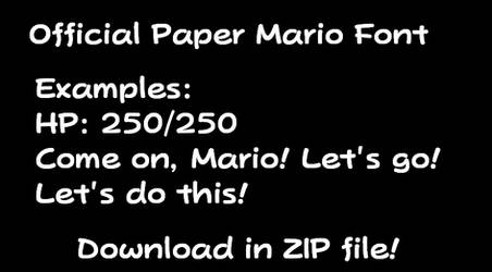 Official Paper Mario Font
