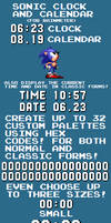 Sonic Clock and Calendar (For Rainmeter)