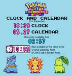 Pokemon Puzzle Challenge Clock and Calendar (RM)