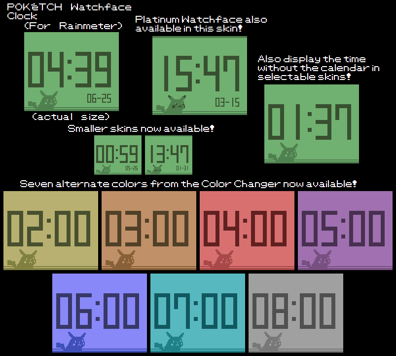 Poketch Watchface Clock (For Rainmeter) by TheWolfBunny