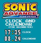 Sonic Advance Clock and Calendar (For Rainmeter)