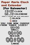 Paper Mario Clock and Calendar (For Rainmeter)