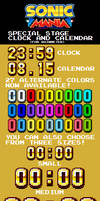 Sonic Mania Sp. Stage Clock and Calendar (RM Skin)