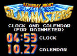 SNSM Clock and Calendar (For Rainmeter)