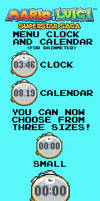 Mario and Luigi SS Menu Clock and Calendar (RM)