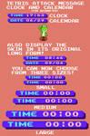 Tetris Attack Message Clock and Calendar (RM Skin)