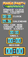 Mario Party Advance Bowser Clock and Calendar (RM)