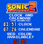 Sonic Advance 2 Clock and Calendar (For Rainmeter)
