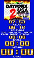 Daytona USA 2 Clock and Calendar (For Rainmeter)