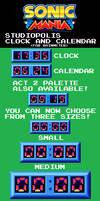 Sonic Mania Studiopolis Clock and Calendar (RM)