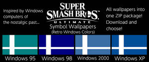 SSBU Symbol Wallpapers (Retro Windows Colors)