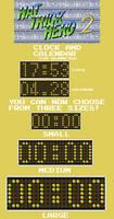 Hat Trick Hero 2 Clock and Calendar (Rainmeter)