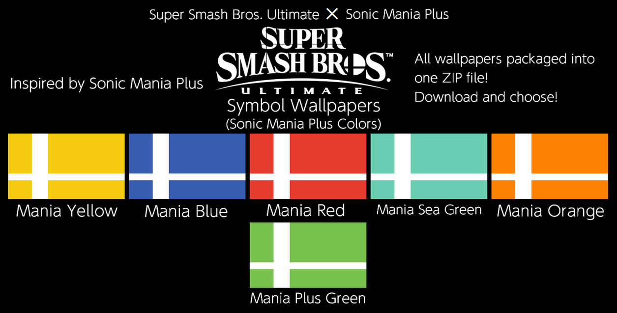 Ssbu Symbol Wallpapers Sonic Mania Plus Colors By Thewolfbunny On