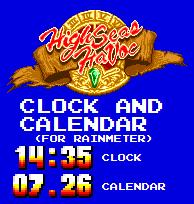 High Seas Havoc Clock and Calendar (For Rainmeter) by TheWolfBunny