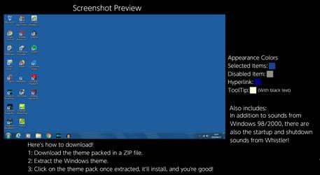 Windows Whistler (Whistler Blue) Windows Theme by TheWolfBunny