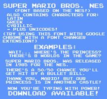 Super Mario Bros. NES Font