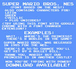 Super Mario Bros. NES Font by TheWolfBunny
