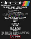 ZX Spectrum Clock and Calendar (For Rainmeter)
