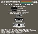 Commodore 64 Clock and Calendar (For Rainmeter)