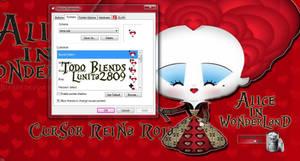 Cursor Reina Roja-Alice in Wonderland