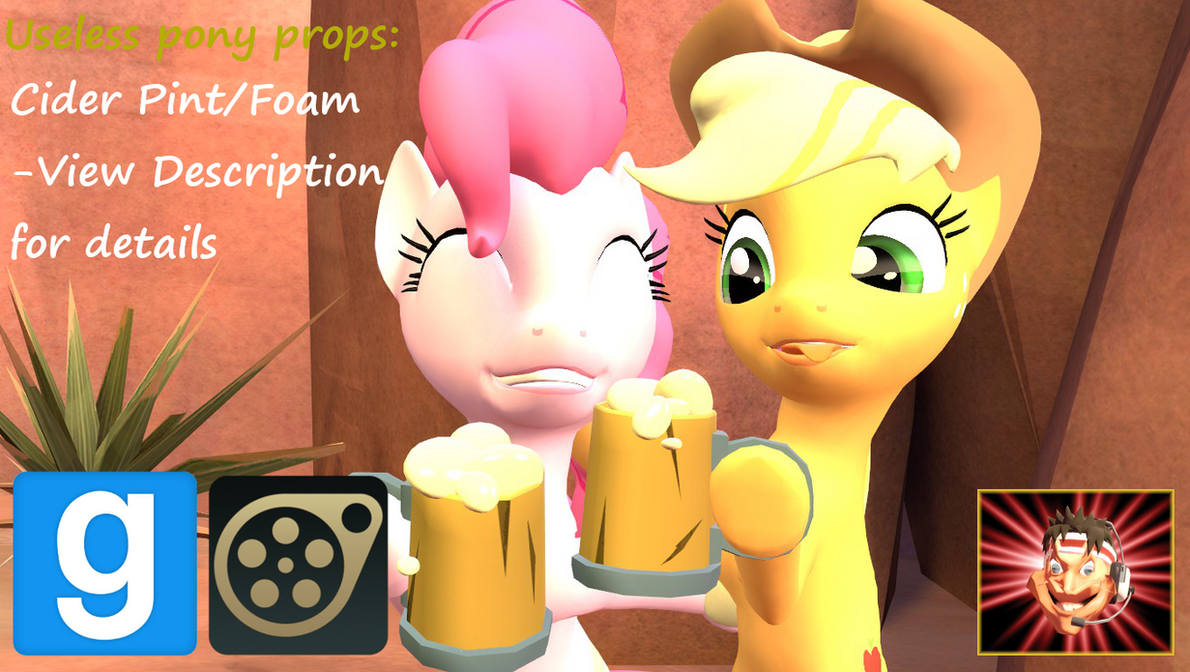Gmod/SFM Ponies Useless [DL]:Cider Pint/Cider Foam by Benno950
