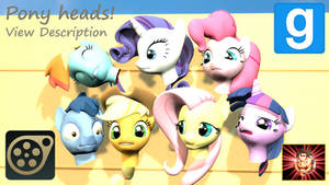 Gmod/SFM ponies [DL]: Pony Heads + Sources