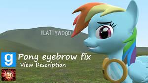 Gmod ponies [DL]: Pony Eyebrow Fix!