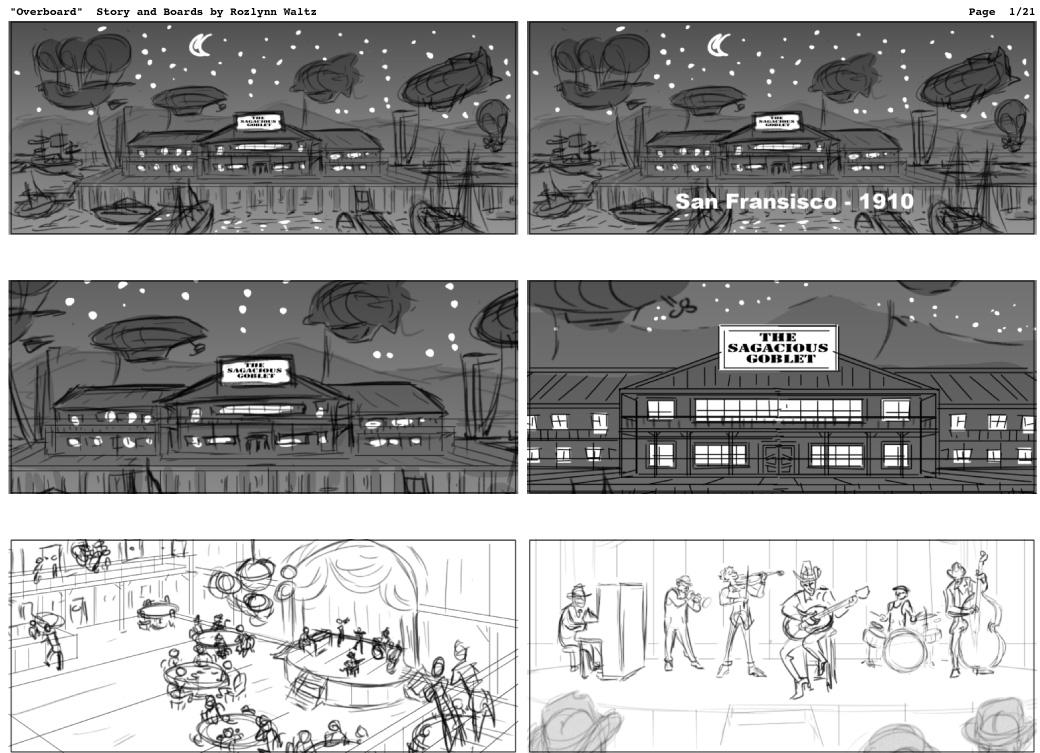 Overboard - Storyboards V5 by RozlynnWaltz