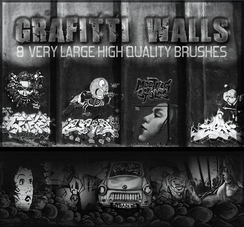 Graffiti Wall Brushes by SweetSoulSister
