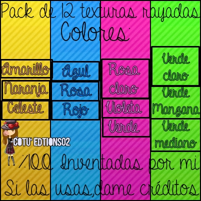 Pack De Texturas by CotuEditions02