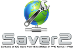 Saver2 Icon [PNG+ICO+PSD] by FenyX93
