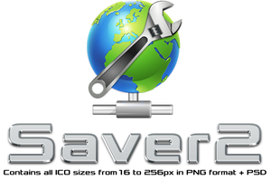 Saver2 Icon [PNG+ICO+PSD]