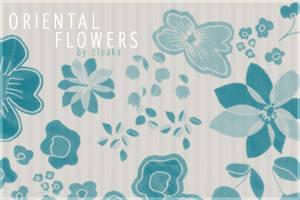 Oriental Flowers by cloaks