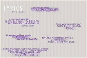 Lyrics by cloaks