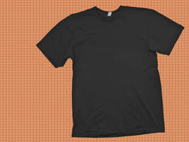 Black T-shirt Template by skyleaf