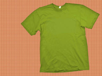 Green T-Shirt Template by skyleaf