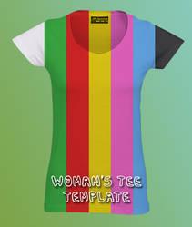 Woman's Tee Template by skyleaf
