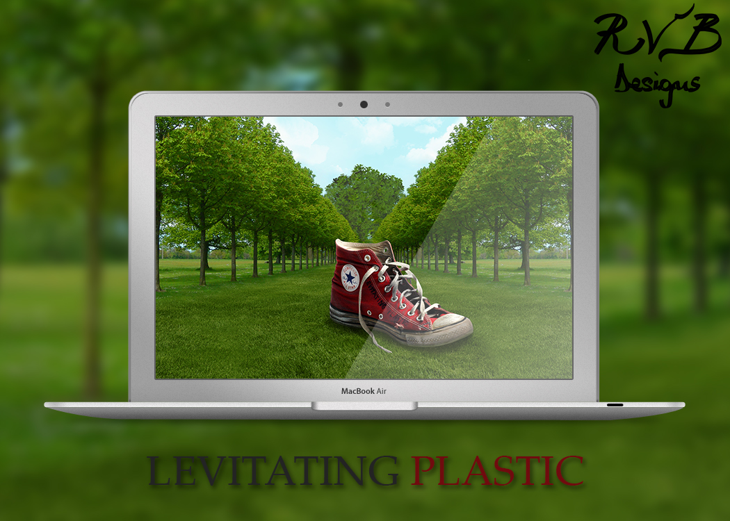 Levitating Plastic - River Black Designs by skyleaf
