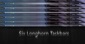 Six Longhorn Taskbars