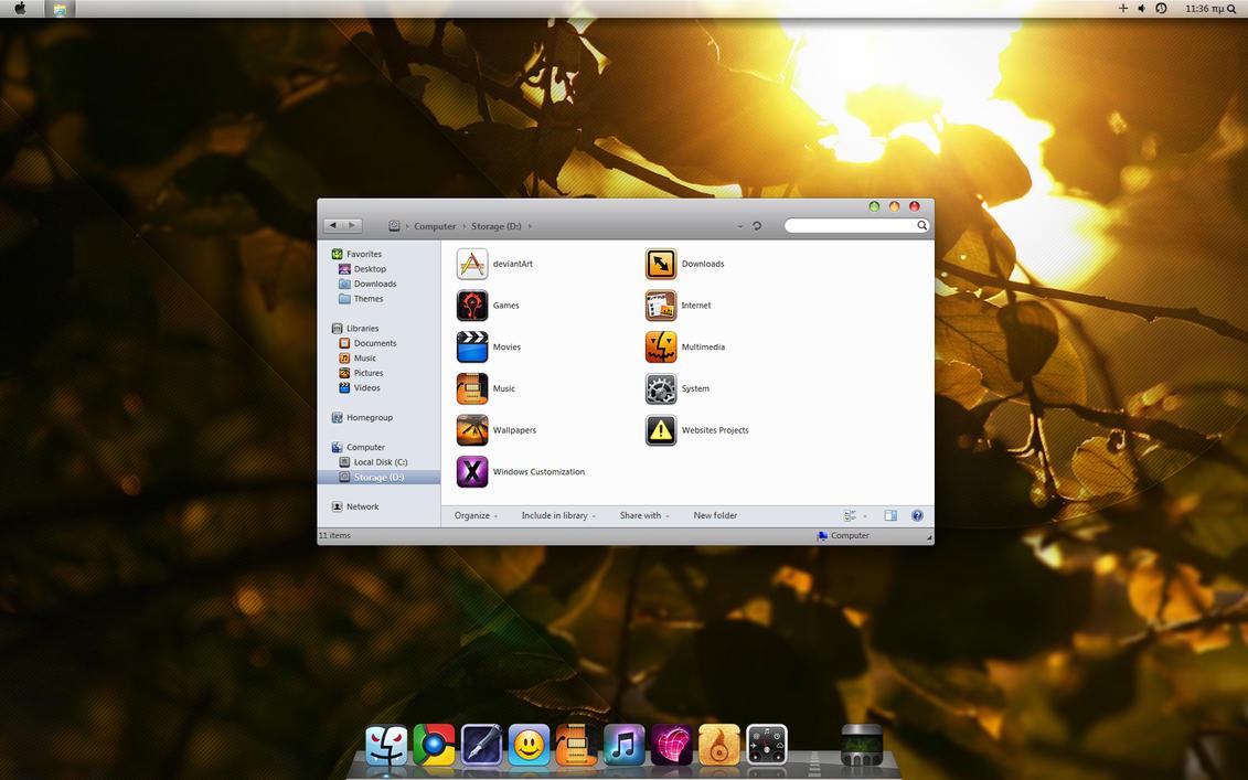 Snow Leopard Theme Beta3 x64 by giannisgx89