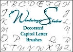 WS Decorated Letters 1 Brushes