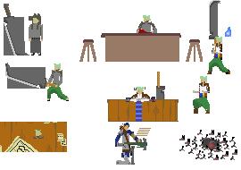 Sark - Intro pixel animations