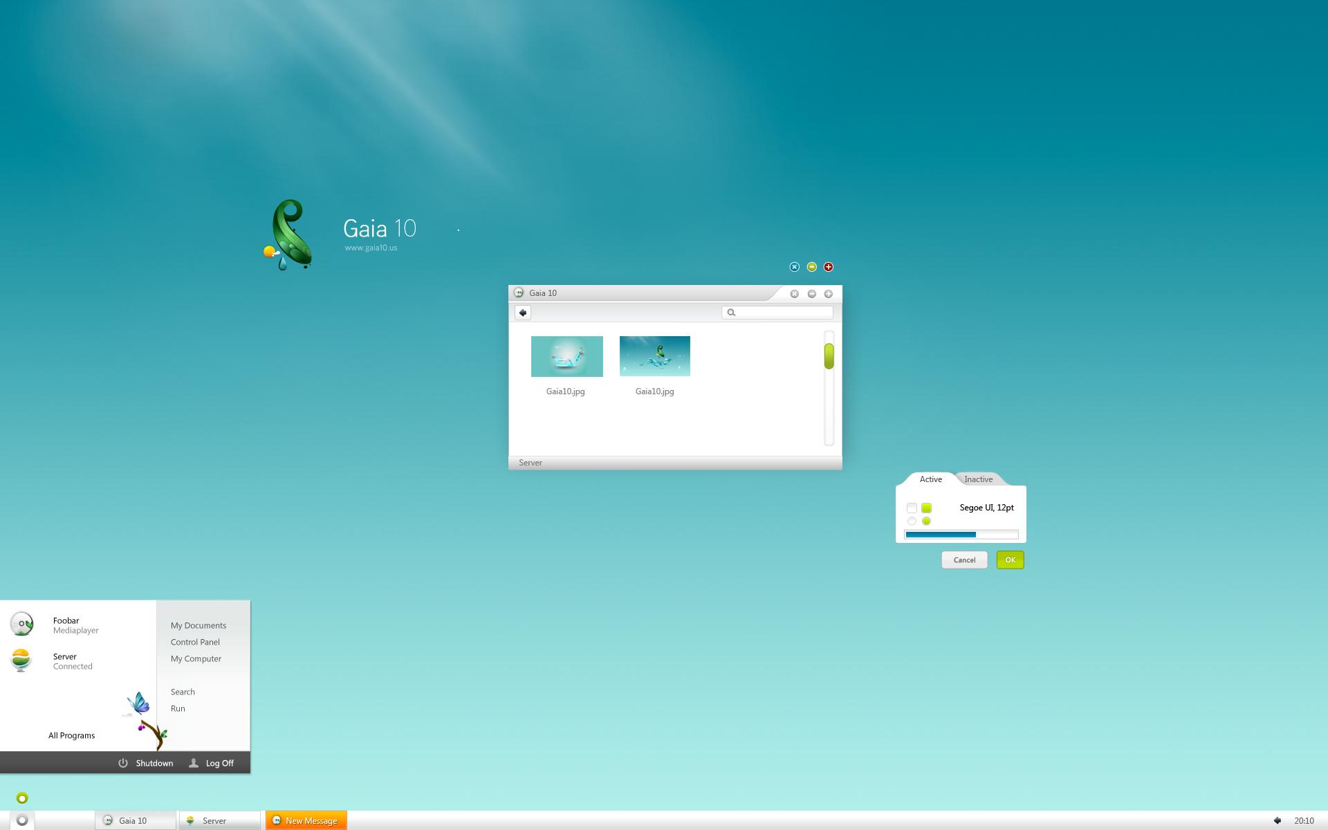 Gaia10 XP Visual Style PSD