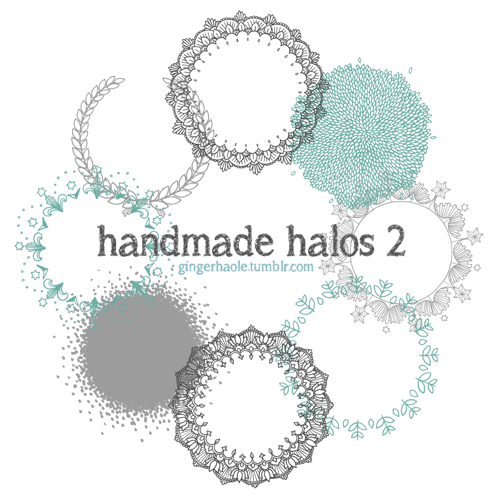 Handmade Halos 2 brush set by lily-fox