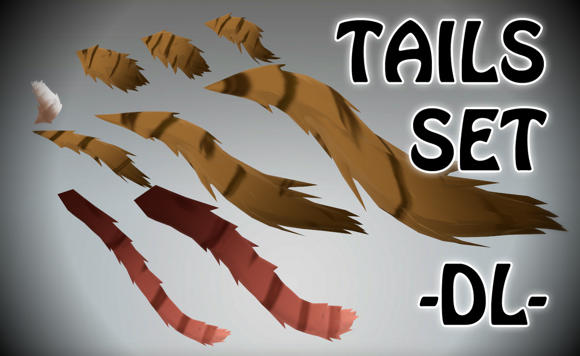 MMD DL = Tails pack by Roksi10