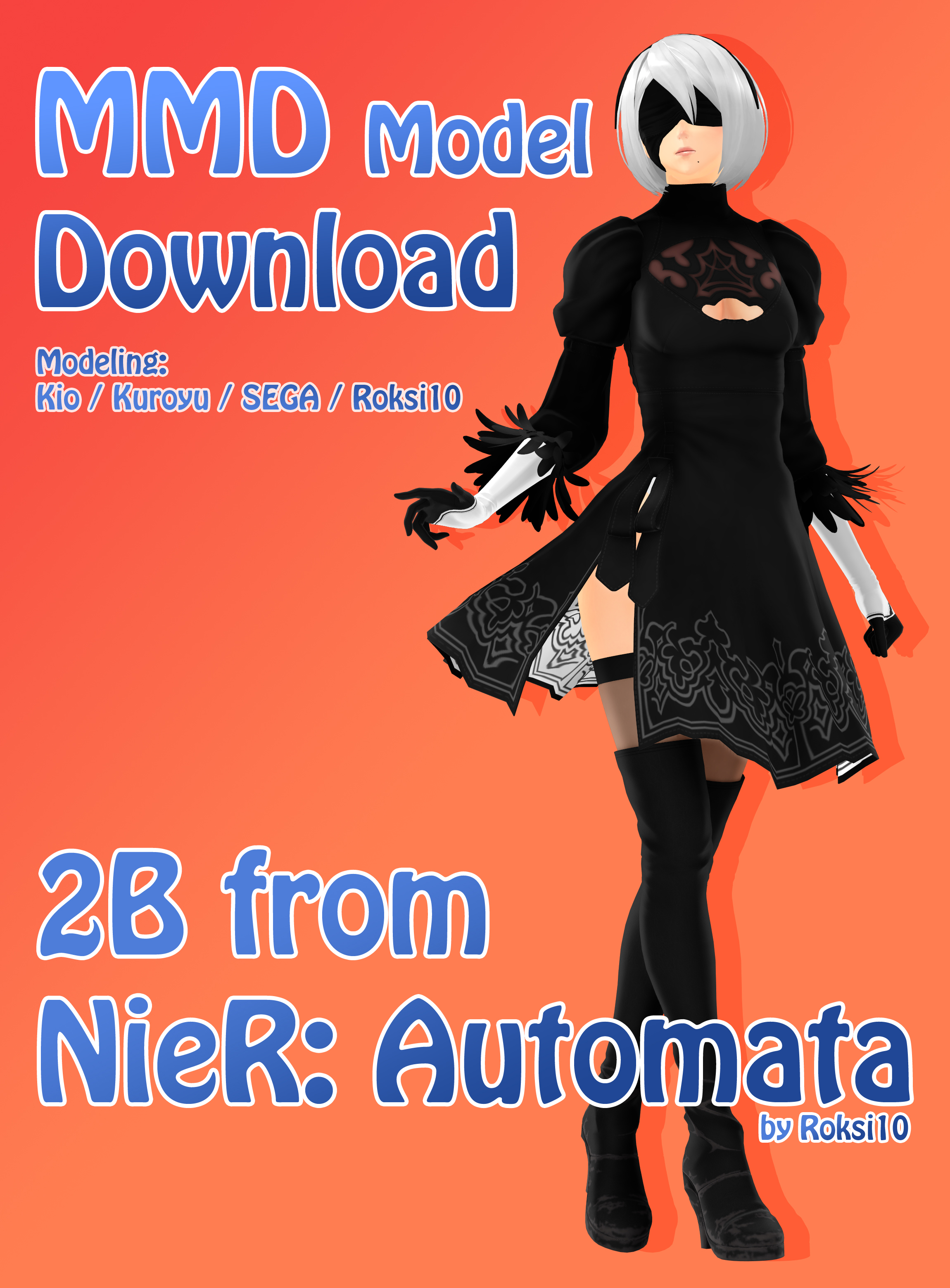 3d mmd nier automata 2b dances gishinanki 7